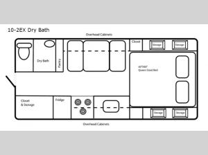 Limited Edition 10-2EX Dry Bath Floorplan Image