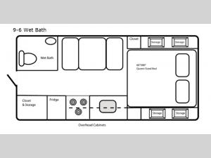 Limited Edition 9-6 Wet Bath Floorplan Image