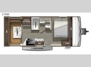 Autumn Ridge Single Axle 171RD Floorplan Image