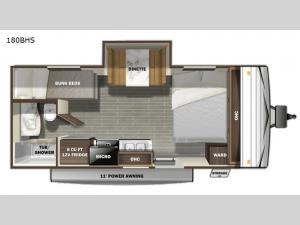 Autumn Ridge Single Axle 180BHS Floorplan Image