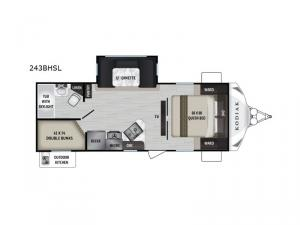 Kodiak Ultra-Lite 243BHSL Floorplan Image