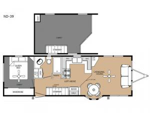 America's Park Cabins Lodge Series ND-39 Floorplan Image