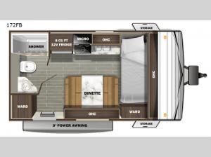 Autumn Ridge Single Axle 172FB Floorplan Image