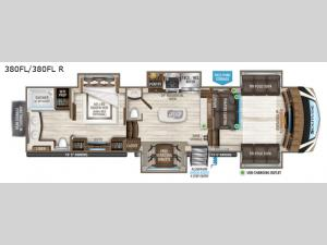 Solitude 380FL R Floorplan Image