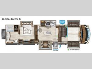 Solitude 382WB R Floorplan Image