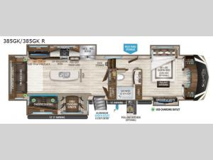 Solitude 385GK R Floorplan Image