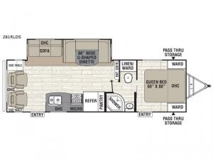Freedom Express 281RLDS Floorplan Image