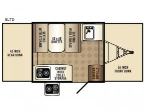 Tent Campers 8LTD Floorplan Image