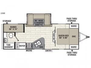 Freedom Express 23SE Floorplan Image