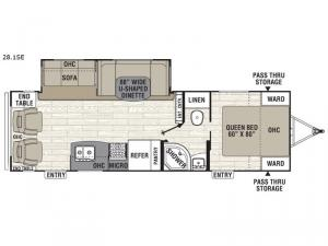 Freedom Express 28.1SE Floorplan Image