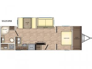 Sunset Trail Super Lite SS253RB Floorplan Image