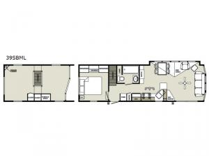 Quailridge 39SBML Loft Floorplan Image