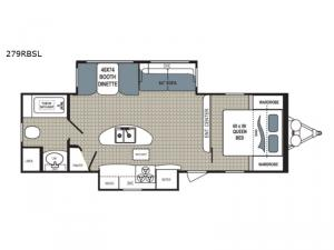 Kodiak Ultimate 279RBSL Floorplan Image