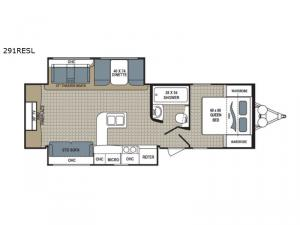 Kodiak Ultimate 291RESL Floorplan Image