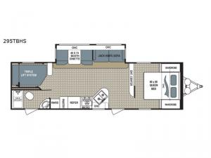 Kodiak Ultimate 295TBHS Floorplan Image