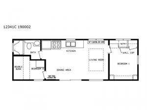 Cavco 150 Series 12341C 190002 Floorplan Image