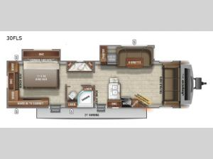 White Hawk 30FLS Floorplan Image