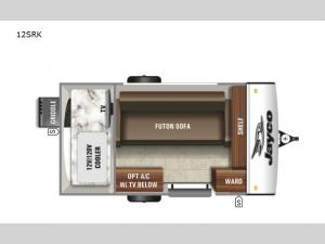 Jay Feather Micro 12SRK Floorplan Image