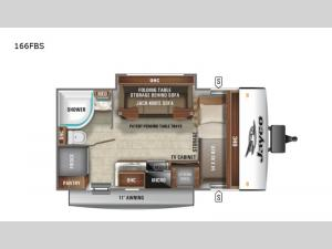 Jay Feather Micro 166FBS Floorplan Image