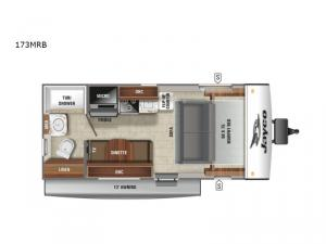 Jay Feather Micro 173MRB Floorplan Image