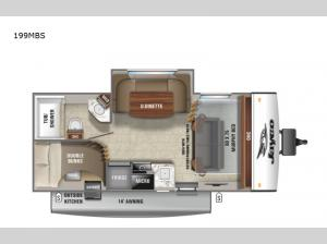 Jay Feather Micro 199MBS Floorplan Image