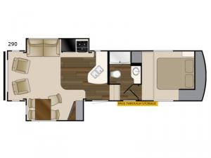 ElkRidge Xtreme Light 290 Floorplan Image