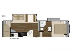 ElkRidge Xtreme Light 280 Floorplan Image