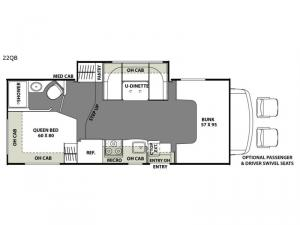 Freelander 22QB Chevy 4500 Floorplan Image