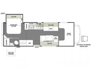 Freelander 26RS Chevy 4500 Floorplan Image