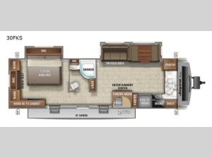 White Hawk 30FKS Floorplan Image