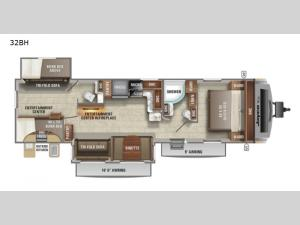 White Hawk 32BH Floorplan Image