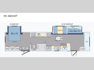 Harbor View HV-36CKWT Floorplan Image