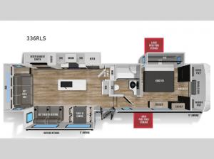 Wildcat 336RLS Floorplan Image