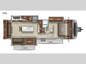 White Hawk 32RL Floorplan Image