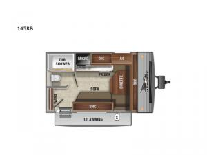 Jay Flight SLX Western Edition 145RB Floorplan Image