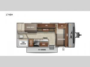 Jay Flight SLX Western Edition 174BH Floorplan Image