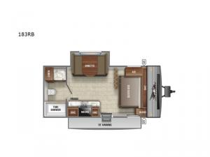Jay Flight SLX Western Edition 183RB Floorplan Image