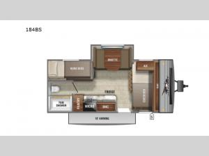 Jay Flight SLX Western Edition 184BS Floorplan Image