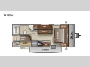 Jay Flight SLX Western Edition 224BHW Floorplan Image