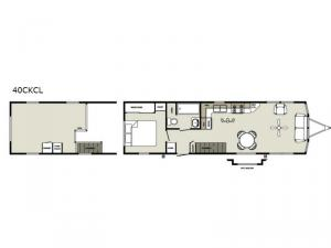 Summit 40CKCL Loft Floorplan Image