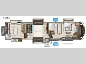 Solitude 390RK Floorplan Image