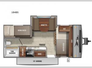 Jay Flight SLX 7 184BS Floorplan Image