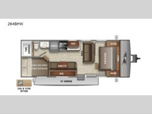 Jay Flight SLX Western Edition 264BHW Floorplan Image