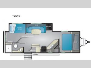 North Trail 24DBS Floorplan Image