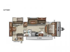 Jay Flight 32TSBH Floorplan Image