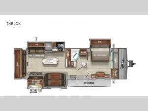 Jay Flight 34RLOK Floorplan Image