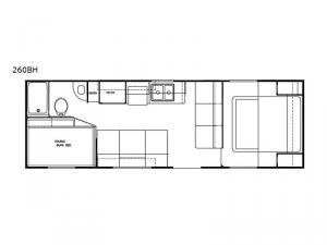 Dream 260BH Floorplan Image