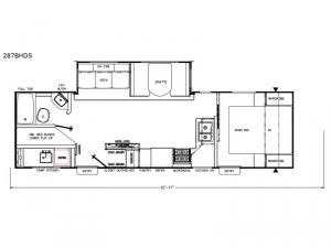 Freedom Express 287BHDS Floorplan Image
