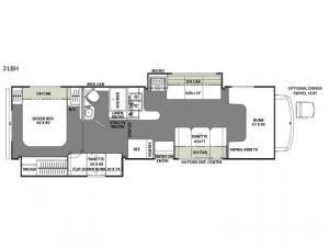 Freelander 31BH Ford 450 Floorplan Image