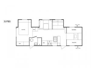 Riverside 31FBS-Tub Floorplan Image
